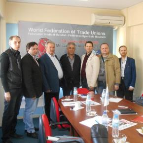 On joint seminar of the Kazakhstan trade Union «Zhanartu» and WFTU in Greece
